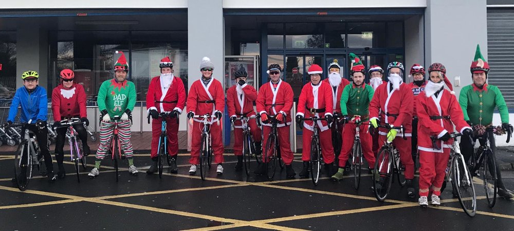 Santa Run 2018  A big thank you to all the members that participated in our traditional Santa Run, which raised some funds towards the NI Air Ambulance. 🎅🏻🚴‍♂️😀🚁👌🏻 Looked like good fun was had by all. 👍🏻   See More