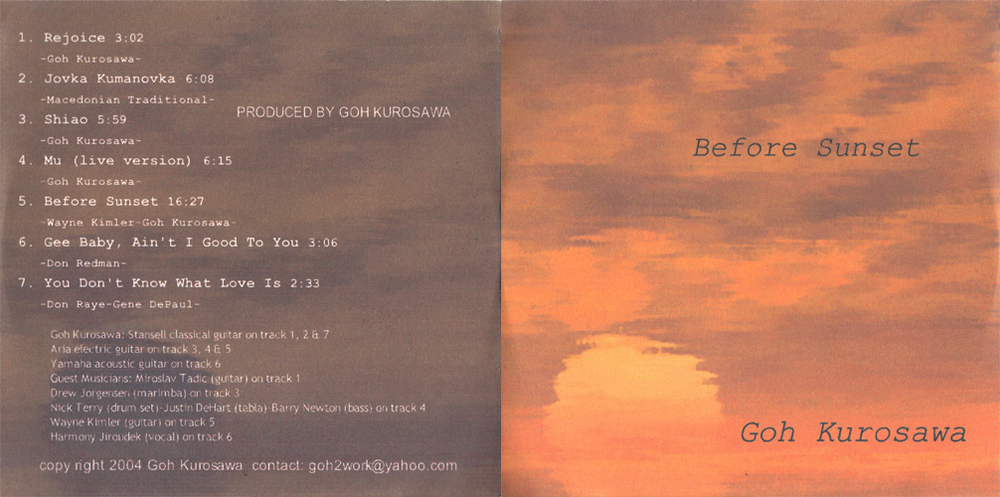 "GOH ""Before Sunset"" (sold out)"