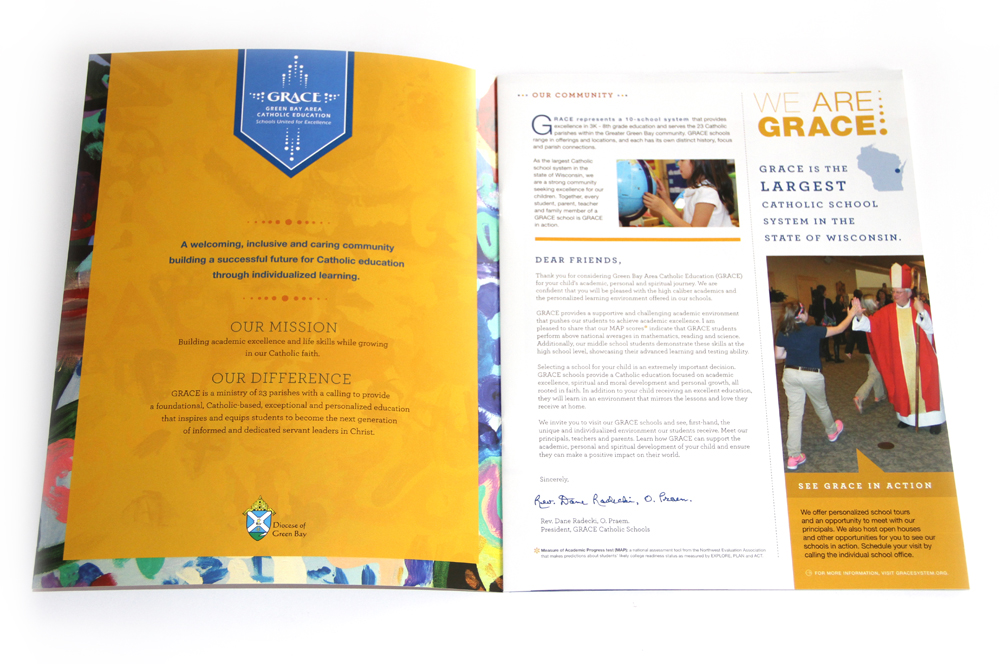 GRACE - Green Bay Area Catholic Education - Folder Brochure