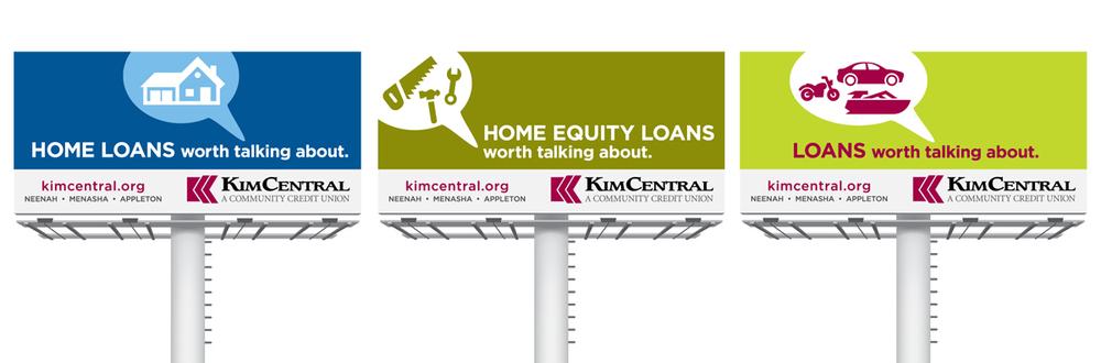 KimCentral Credit Union Billboards