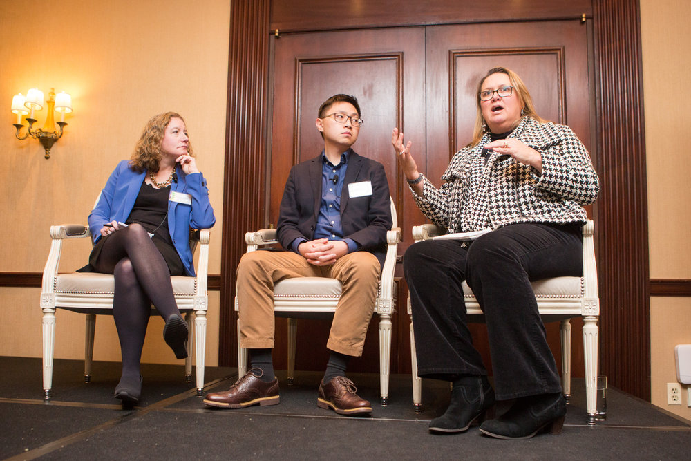 From left: Carrie Johnson, Justice Correspondent, Washington Desk; Hansi Lo Wang, Reporter, National Desk; Debbie Elliot, Correspondent, National Desk