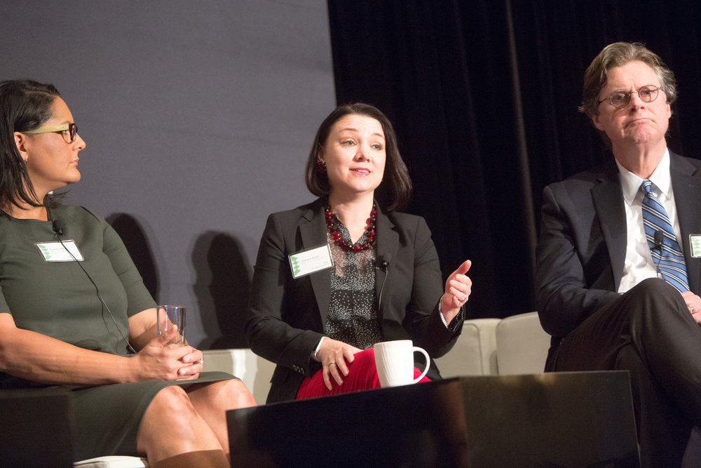 From left: Karen Finney, Senior Advisor and Spokesperson, Hillary for America; Tamara Keith, White House Correspondent; Byron York, Chief Political Correspondent, Washington Examiner