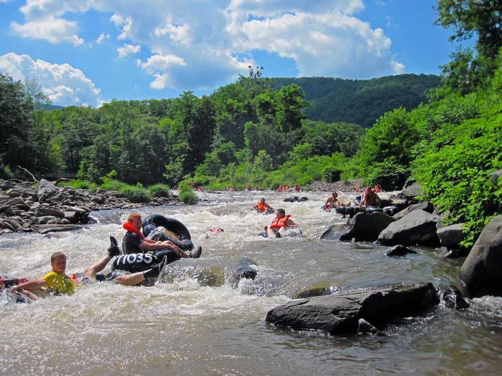 Tubing on the Esopus Creek
