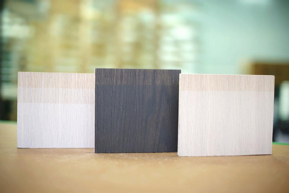 Jeux de transparence et d'opacité: le grain de bois est toujours mis en valeur!