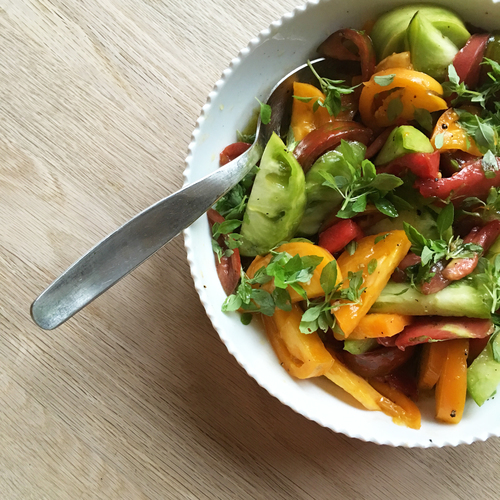 Salade de tomates ancestrales