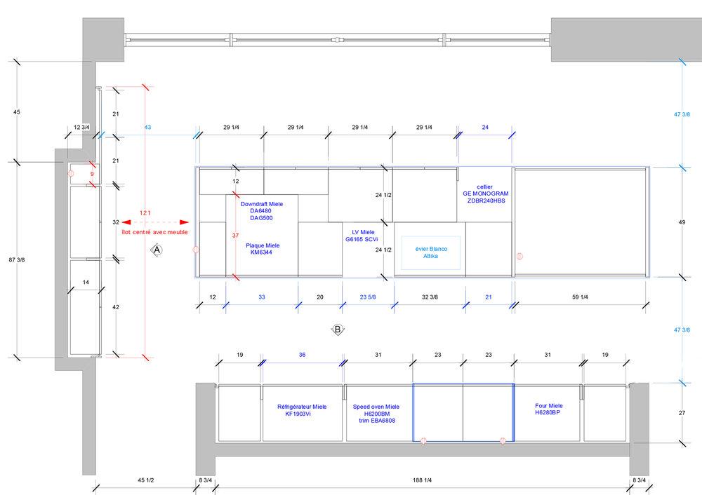 - Ce projet de cuisine s'inscrit dans une rénovation majeure d'une demeure de Westmount des années 60, signée Joseph Baker. Cette cuisine de laque blanche et bois de rose ouverte sur la salle de séjour s'apparente à l'architecture original de la maison. Ici on met de l'avant la luminosité: les matériaux de cet cuisine sont choisis en fonction de cette volonté de réfléchir la lumière et de créer un espace harmonieux avec les pièces adjacentes.Matériaux: laque de polyuréthane blanche avec 30% de lustre, placage de bois de rose - effet planche, comptoir & niche en acier inoxydable brute et bande de laiton.