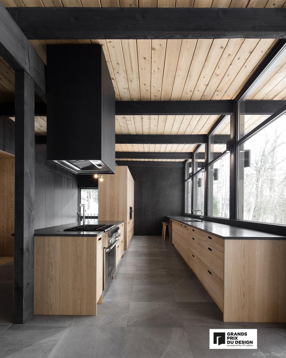 crédits photographiques:    Olivier Blouin    / collaboration:    Dupont Blouin architectes     Grands Prix du Design, Prix cuisine, Dupont Blouin Architectes.