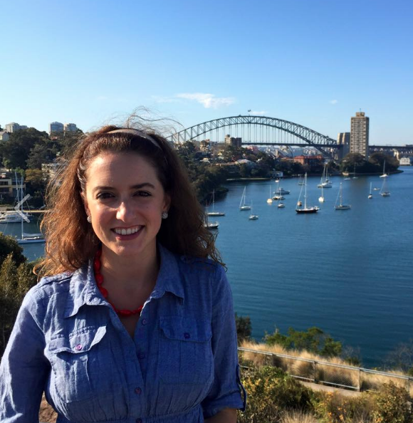 Researcher, Lisa Mabe-Konstantopoulos, in Sydney, Australia