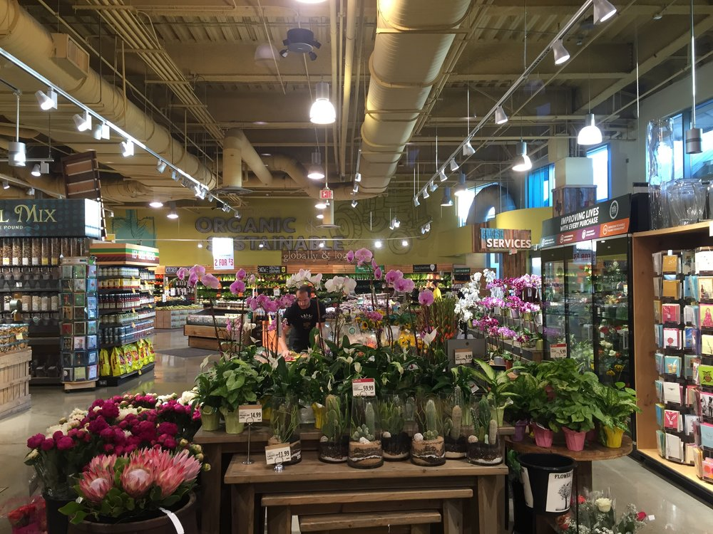 Floral department inside Whole Foods Market in Austin, TX