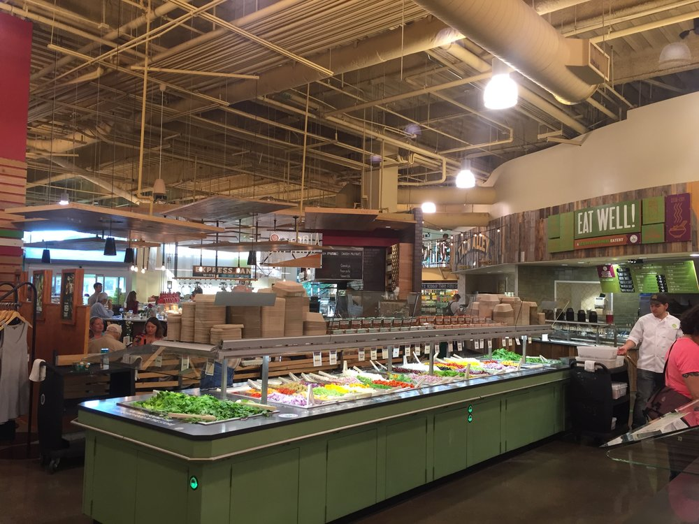 Salad bar inside Whole Foods Market in Austin, TX