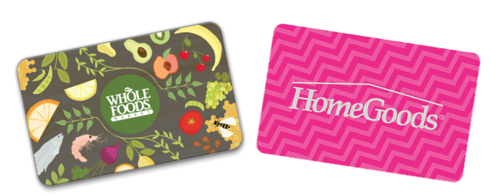 We're offering a $50 gift card for participating - You choose either a Whole Foods Market or HomeGoods gift card.