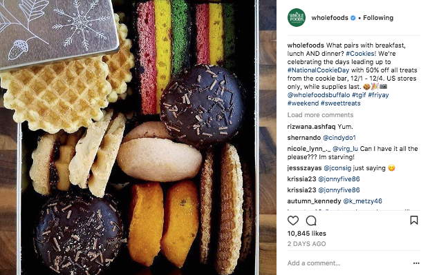 #NationalCookieDay post on instagram.com/wholefoods