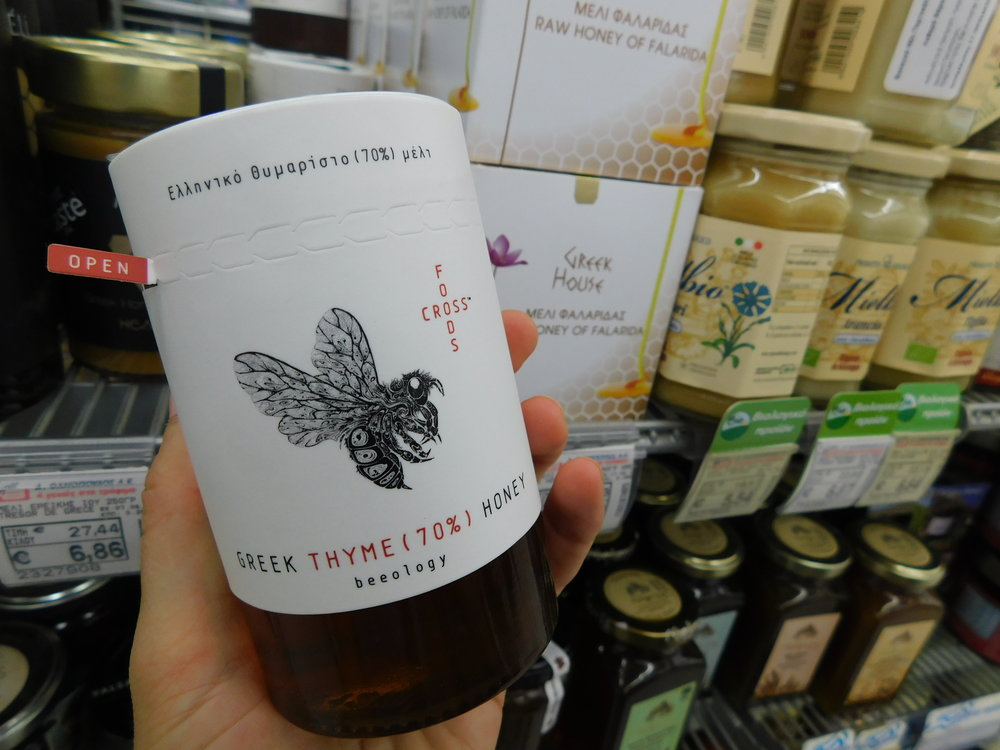 Love this pretty honey packaging.