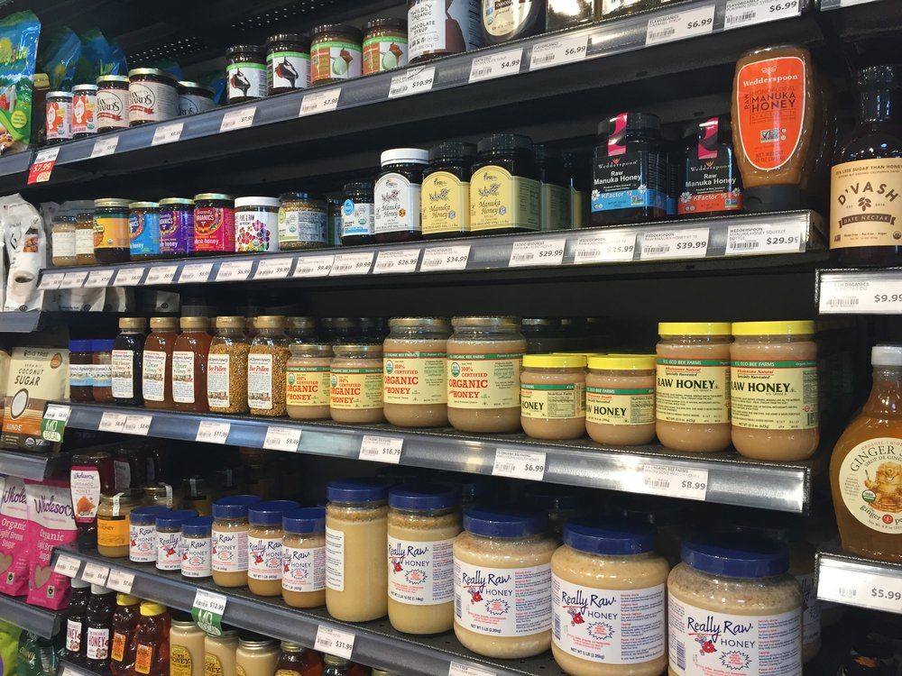 As I've been doing a lot of shopper research in the honey category lately, of course I checked out the honey aisle.