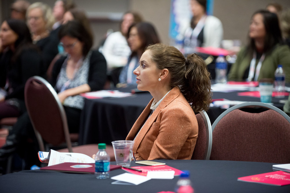 Lisa of Green Purse PR participating in the When Women Lead Symposium. Photo source: Path to Purchase Expo.