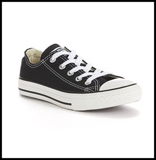 "HIP HOP SHOES   Black ""Converse"" Style Low Tennis Purchase at Kohl's, Payless, Target, Walmart"