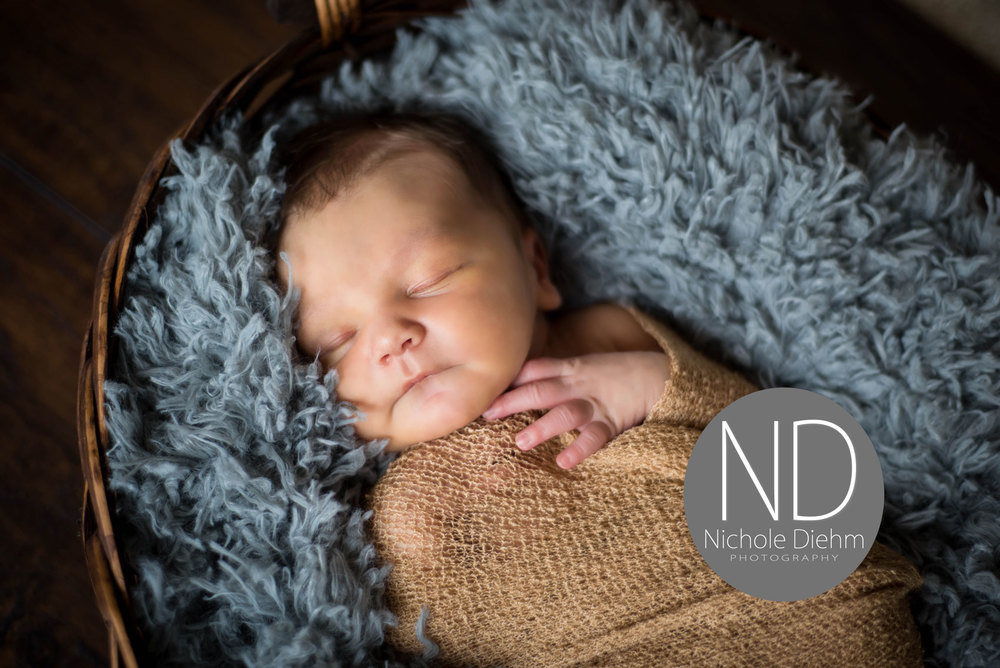 New-Born-Photography-Gray-Gold-Boy-Basket-Wood-Cedar-Falls-Iowa.jpg