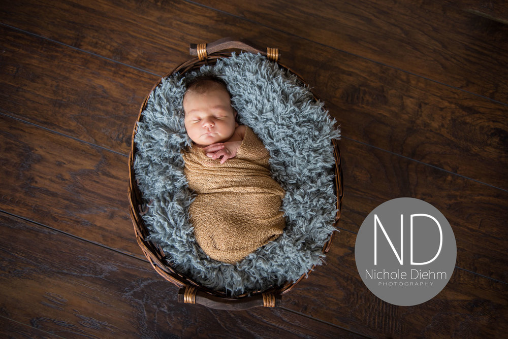 New-Born-Photography-Gray-Gold-Boy-Basket-Wood-Cedar-Falls-Iowa-Photographer-Waterloo.jpg