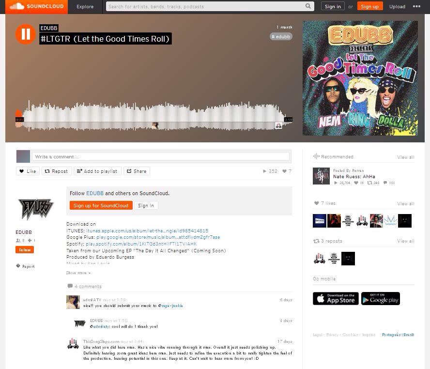 https://soundcloud.com/itsedubb/ltgtr-let-the-good-times-roll   Buy Single -    https://itunes.apple.com/us/album/let-the-good-times-roll-single/id985414815