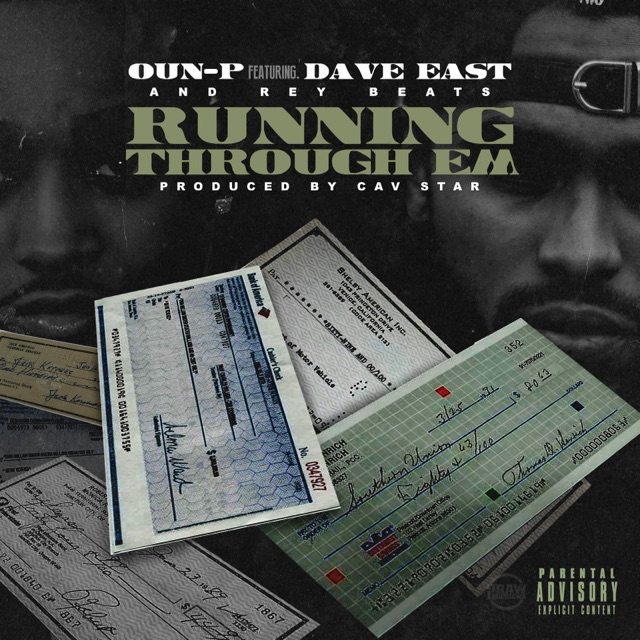 """OUN-P feat Dave East - """"Running Through Em"""" this single is straight fire from New York! OUN-P collaborates with Dave East for this track that has mixshows buzzing and clubs peaking into its dopeness. Listen and judge for yourself, http://m.audiomack.com/song/bottomfeedermusic/running-through-em and comment below do you agree with the hype!"""