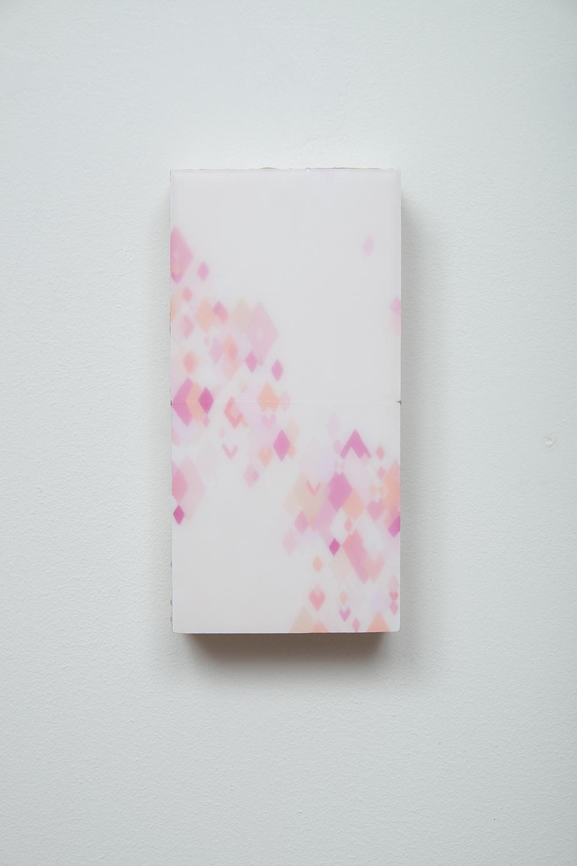 The Rose. 2015.  Acrylic, wax. wood.20cmx10cmx 5cm
