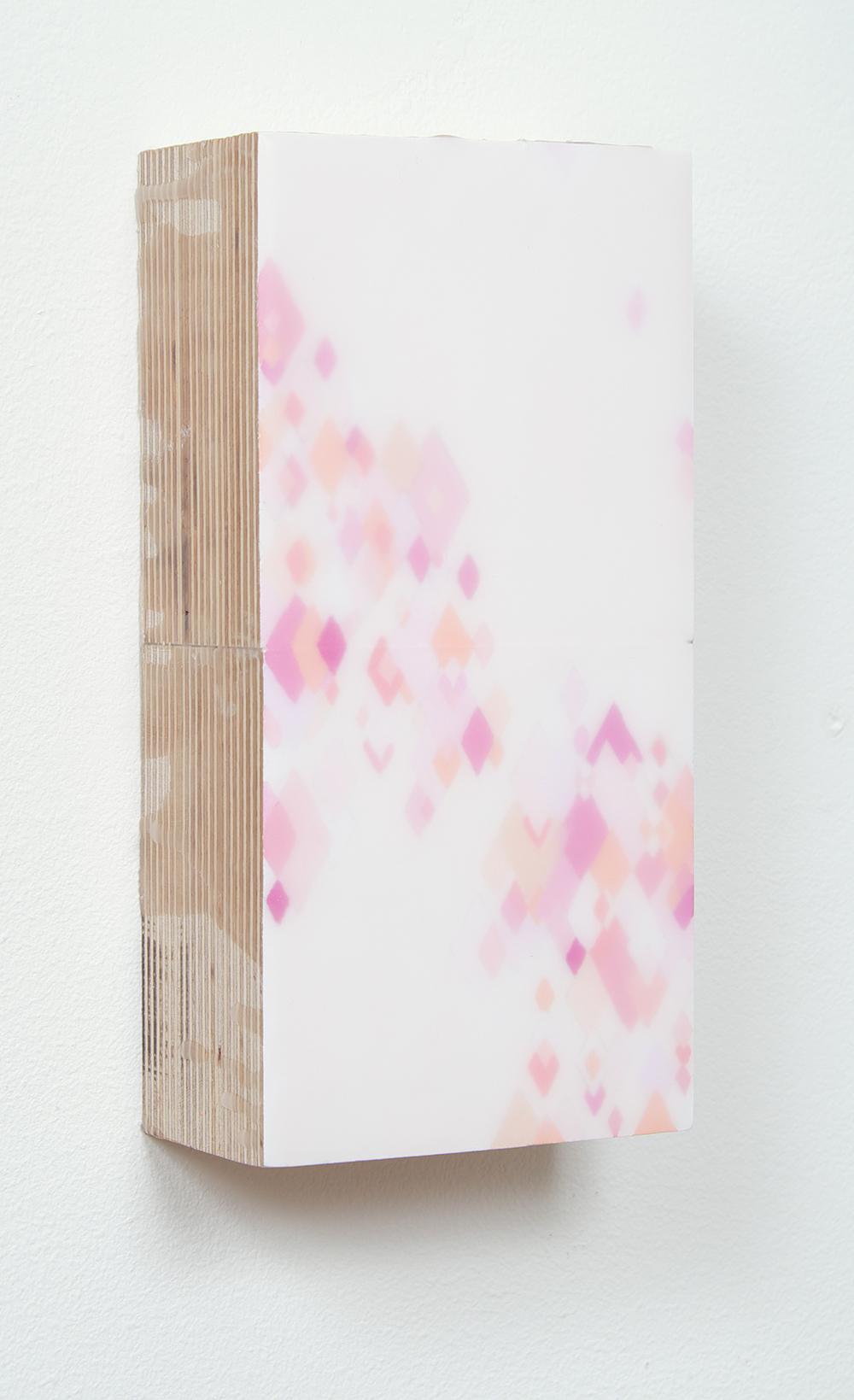 The Rose 2015  Acrylic, wax, wood. 20cmx10cmx5cm