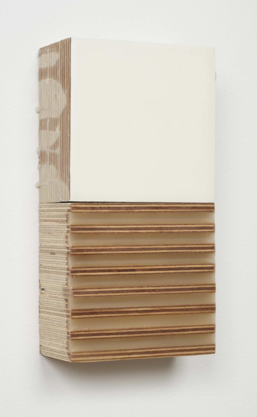 'Honey Creek' acrylic, wax, wood.