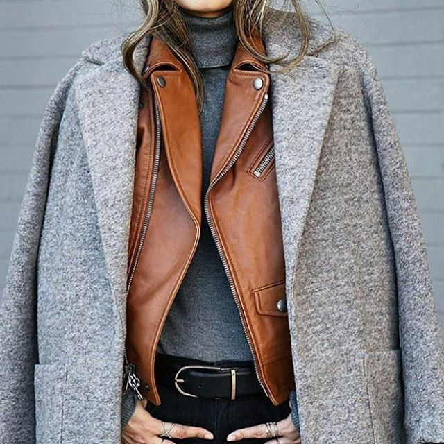 Oh my lord I need to get myself a tan leather jacket 😍😍 #fashion