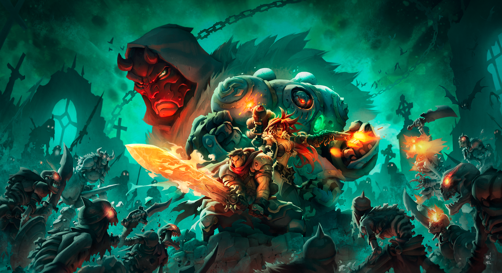 Battle Chasers: Nightwar - Key Art #2 - Variant 2 (Johannes Helgeson)