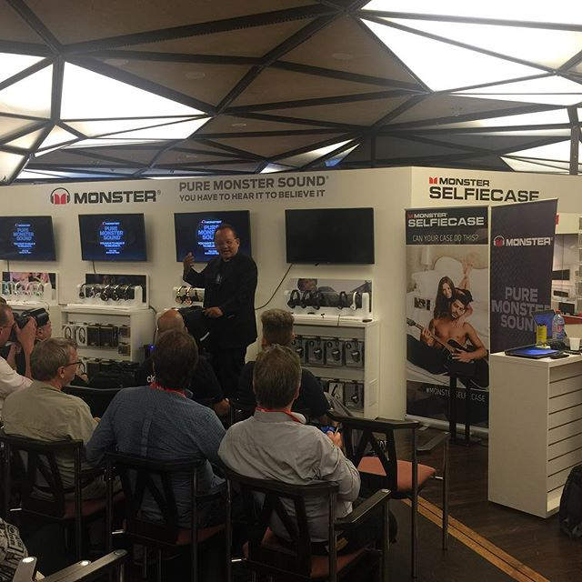 Live from the #monsterproducts #pressconference at the #IFA2015 featuring #monsterselfiecase