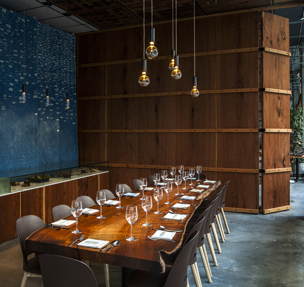 PRIVATE DINING ROOM  seats up to 16 for dinner parties and meetings.