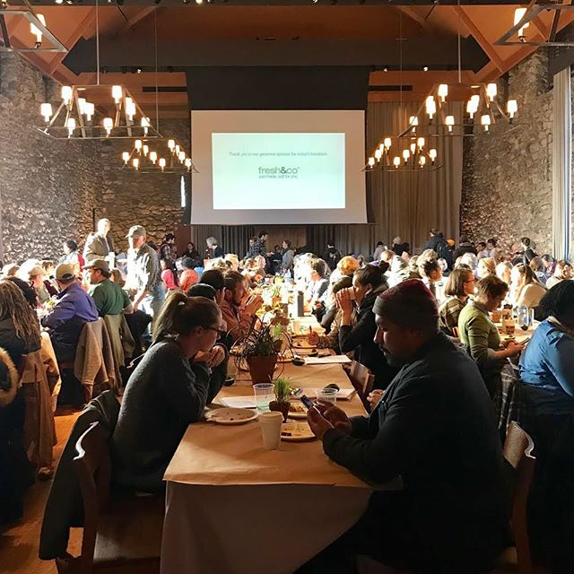 So delighted to be back at Stone Barns for the #youngfarmers conference! #yfc18 let the soul searching begin!