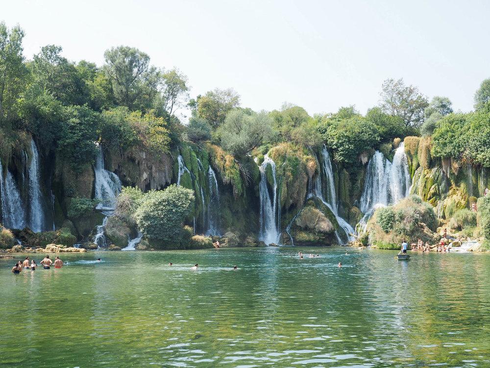 Kravice Waterfalls area an easy day trip from Dubrovnik, Croatia