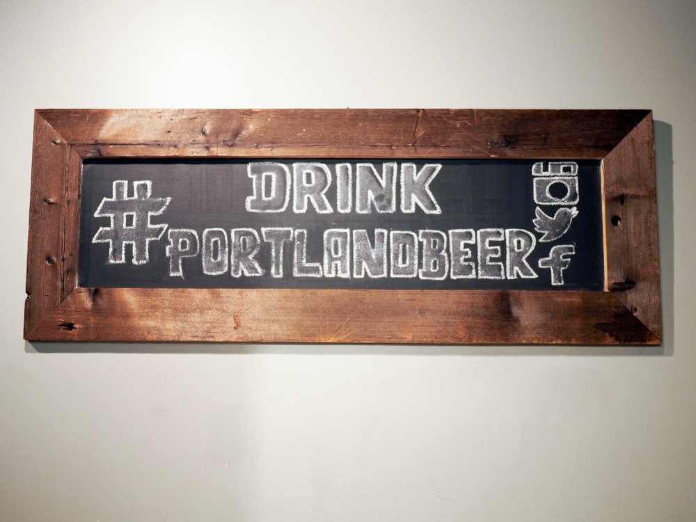 Drink Portland beer sign
