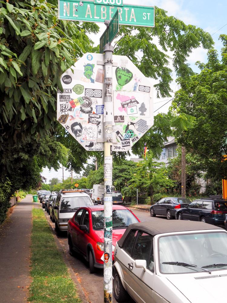 Alberta street sign in Portland