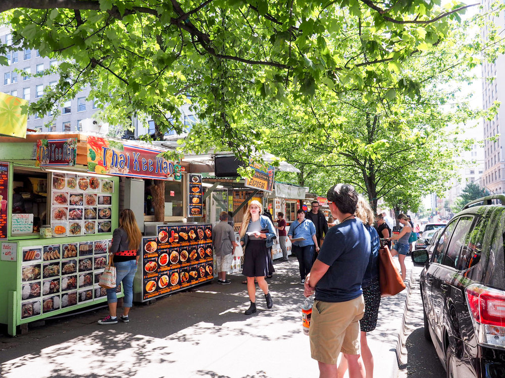 Food carts in downtown Portland