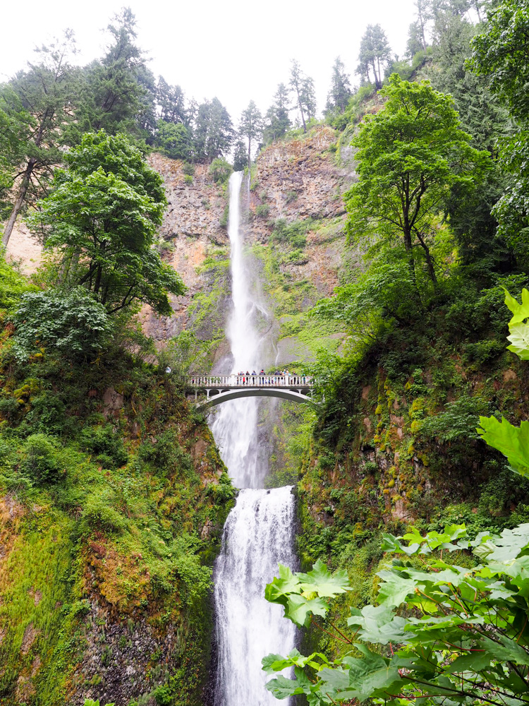 Multnomah Waterfall near Portland, Oregon