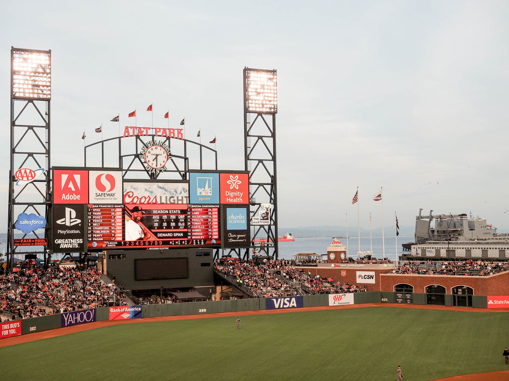 Evening Giant's game at AT&T Park
