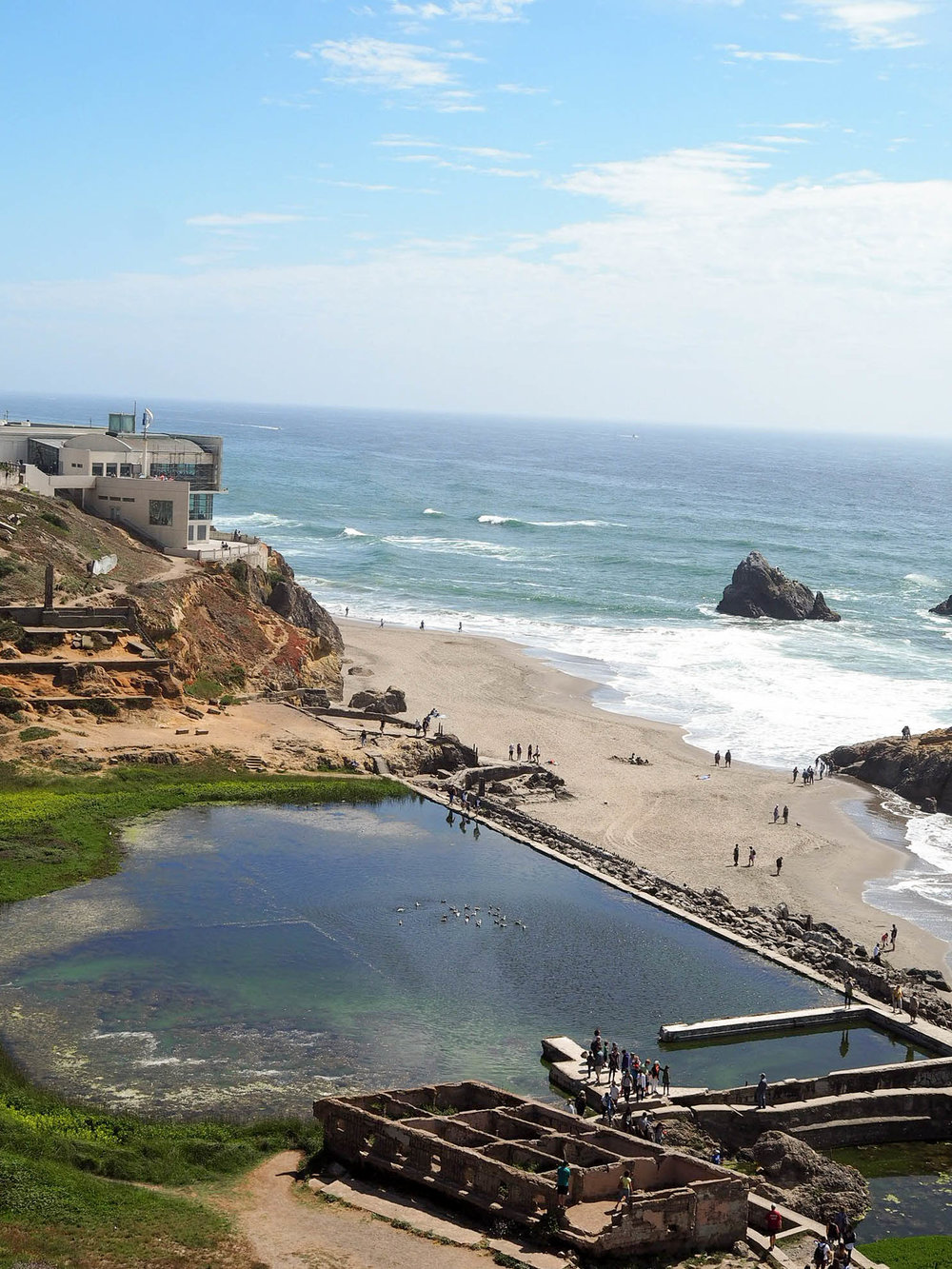 Overlooking the remains of Sutro Baths in San Francisco