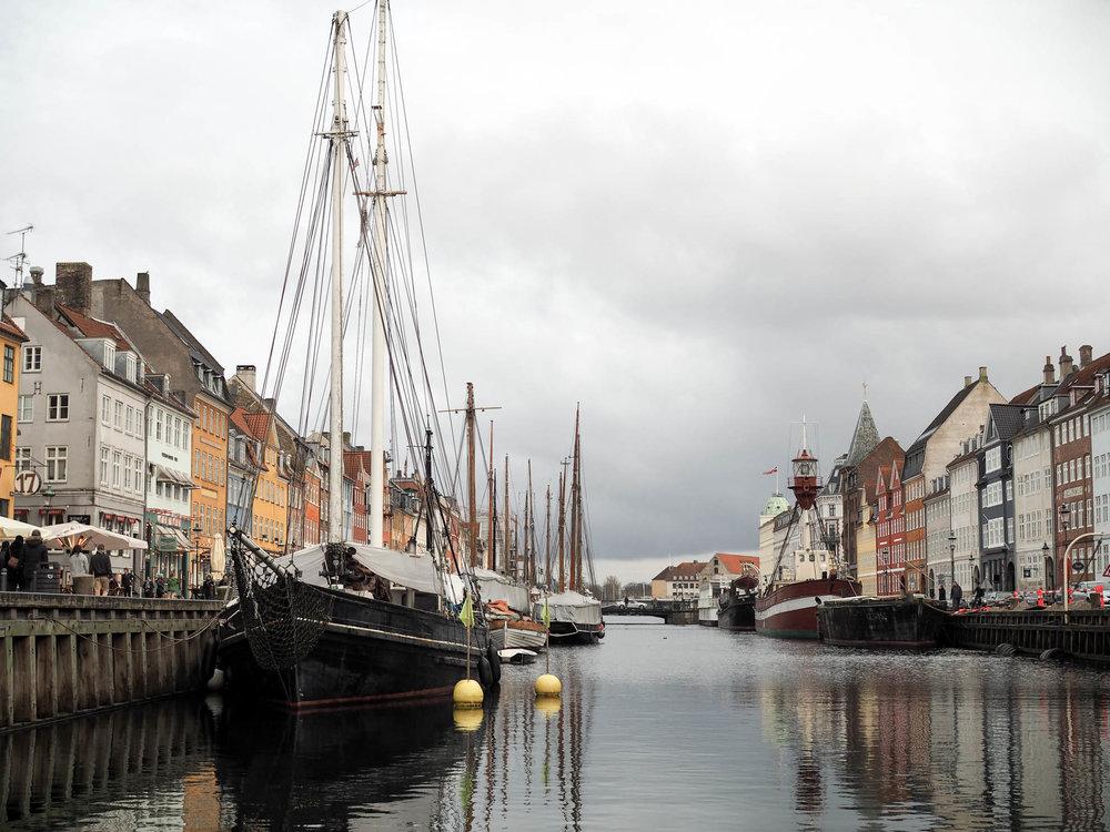 View of Nyhavn Canal in Copenhagen, Denmark