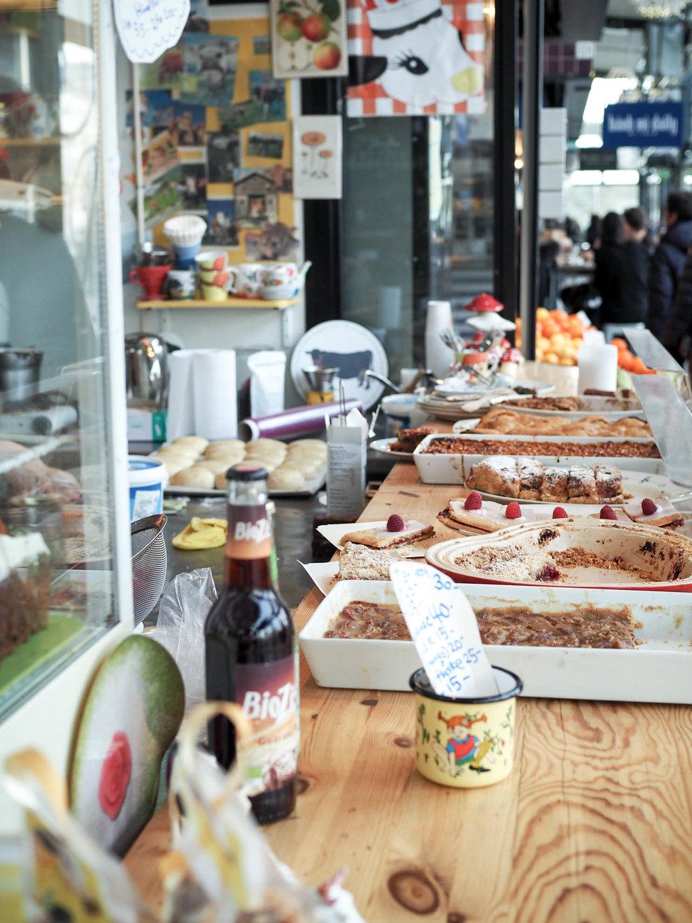 Lots of dessert at Rosa Bakery in Torvehallarne