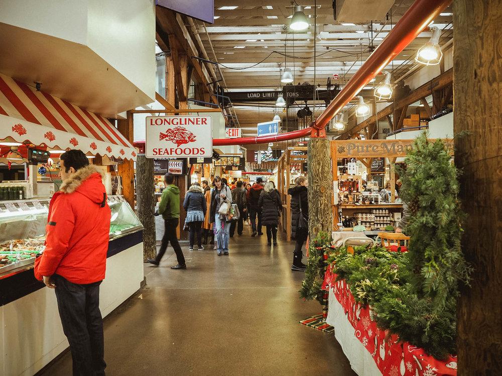Granville Island market in Vancouver, BC