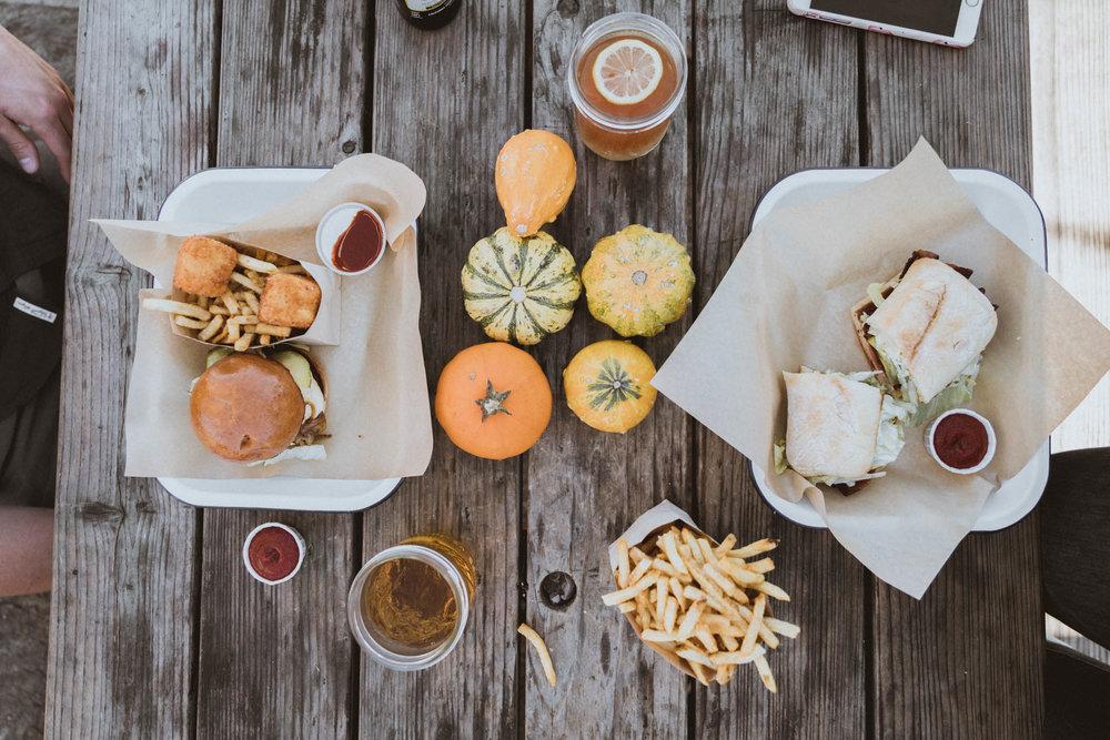 Lunch at The Barn in Half Moon Bay, California.