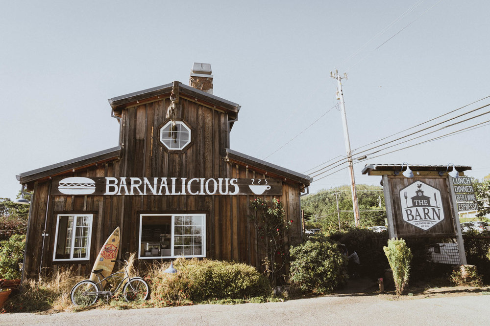 The Barn restaurant in Half Moon Bay