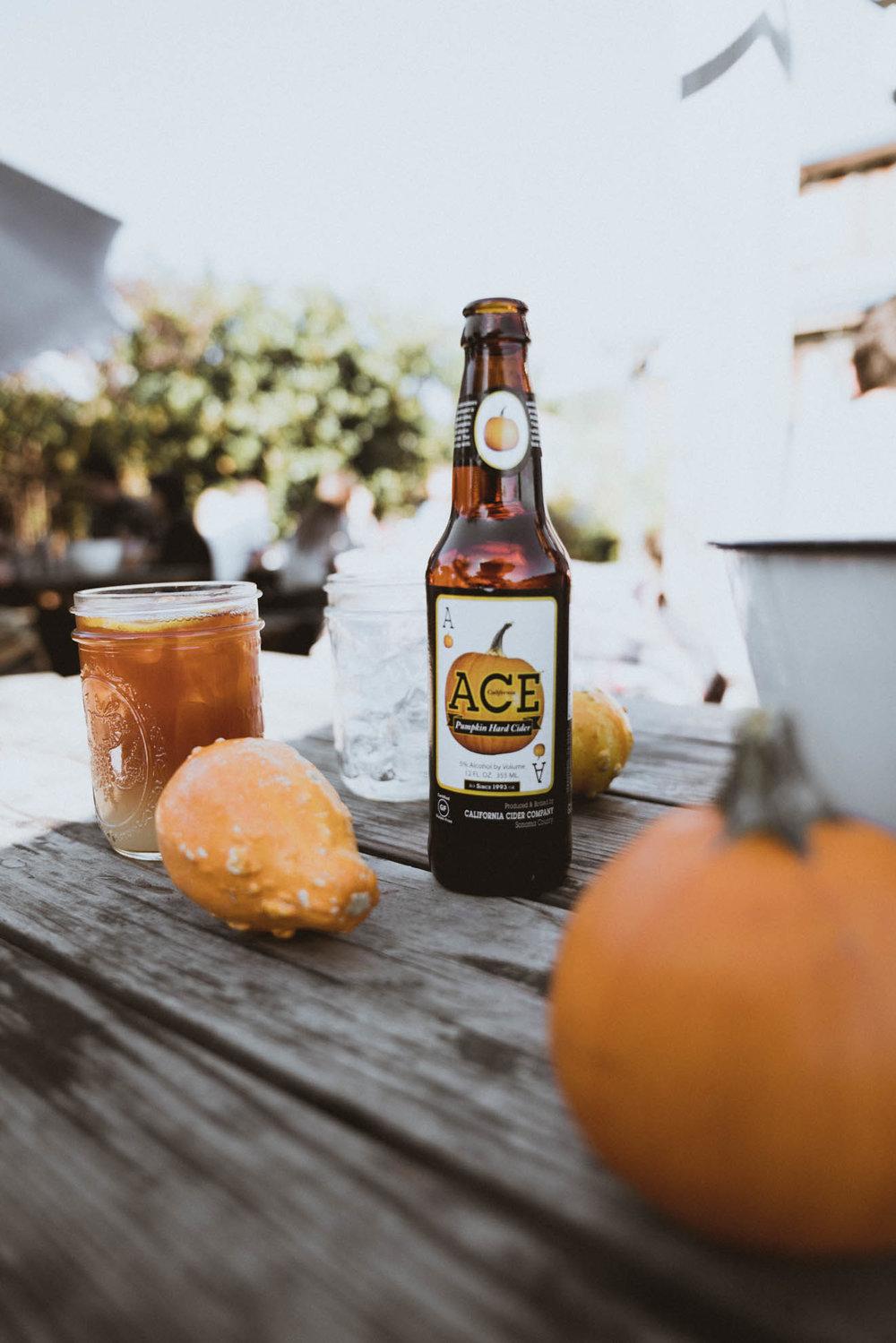 Pumpkins and pumpkin cider in Half Moon Bay