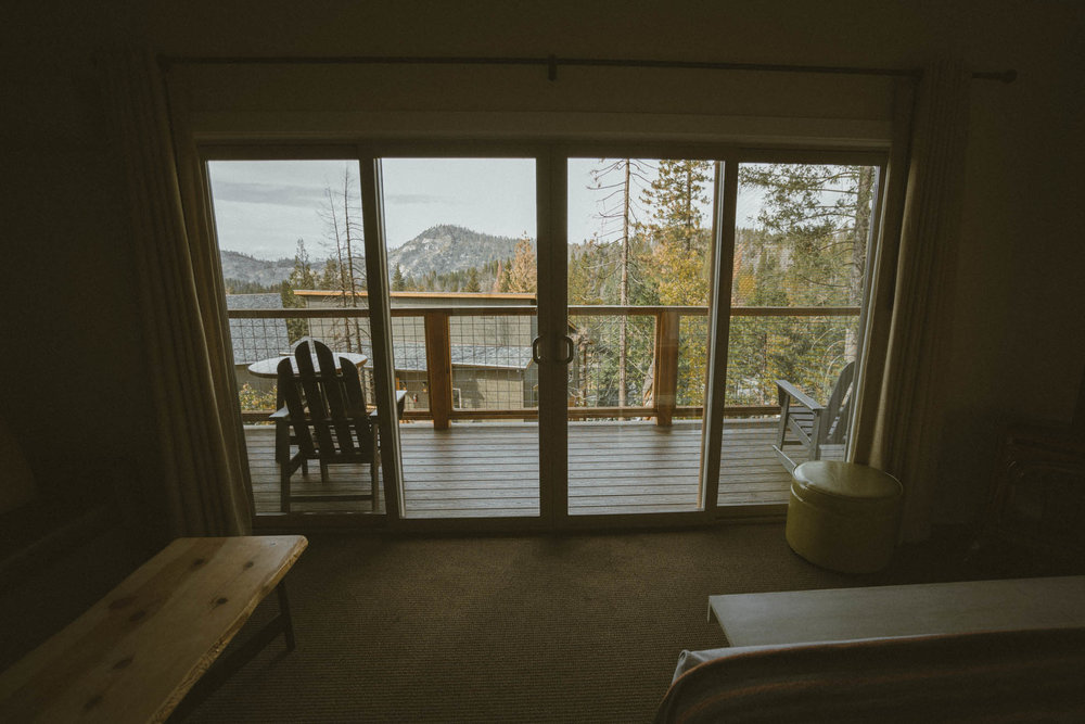 Balcony in the hillside villa at Rush Creek Lodge