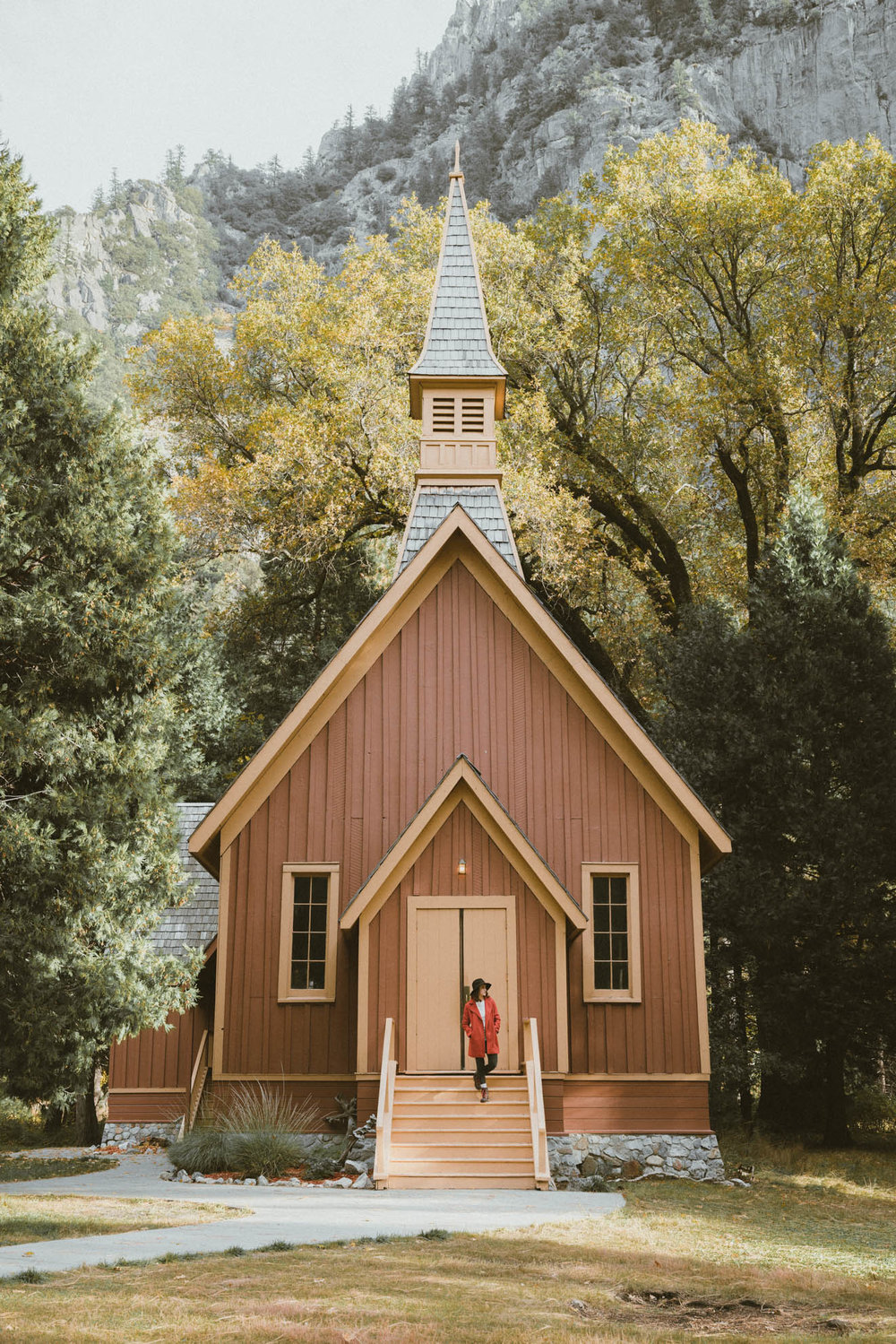 Photo shoot at Yosemite Valley Chapel