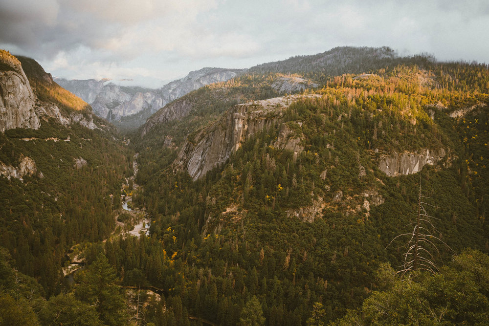 Beautiful view of Yosemite National Park in the fall