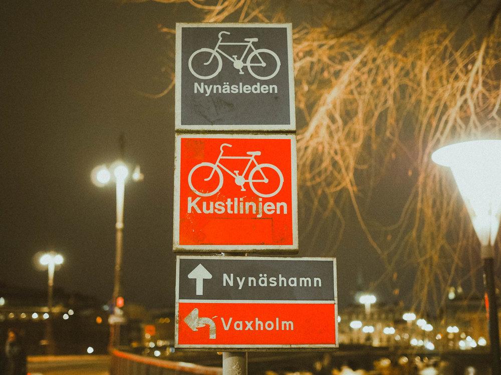 Street signs in Stockholm, Sweden
