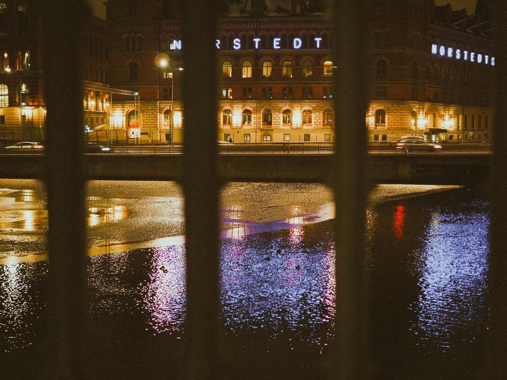 Frozen river in Stockholm